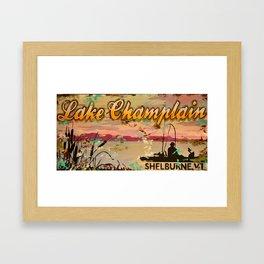 Lake Champlain, Shelburne Vermont Framed Art Print