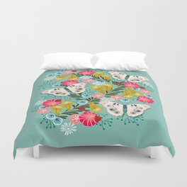 Buckeye Butterly Florals by Andrea Lauren  Duvet Cover