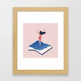 books addicted Framed Art Print