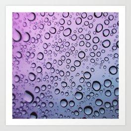 drops of blurple Art Print
