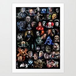 Legends of Horror print Art Print