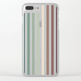 vertical stripes - autumn color striped pattern Clear iPhone Case
