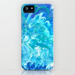 Aqua Ocean Blue iPhone Case