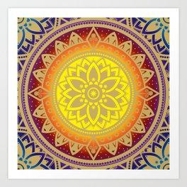 Mandala Infinite Light Spiritual Zen Bohemian Hippie Yoga Mantra Meditation Kunstdrucke