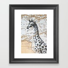 Giraffe in Africa: All Neck  Framed Art Print