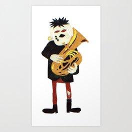 Tuba Player Art Print