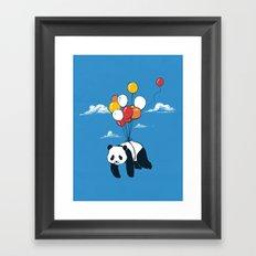 Flying Panda Framed Art Print