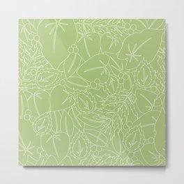 Blender Greenery leaf green Metal Print