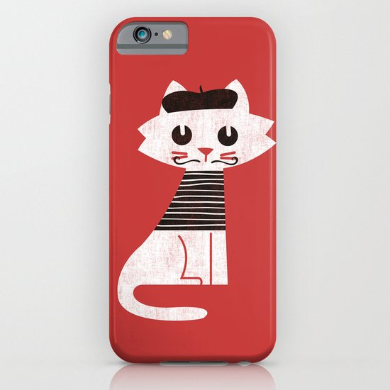 Mark the cat goes to Paris iPhone & iPod Case