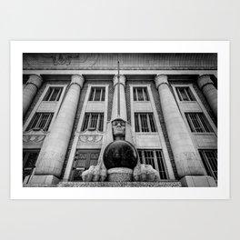 Salt Lake City Masonic Temple Sphinx Art Print