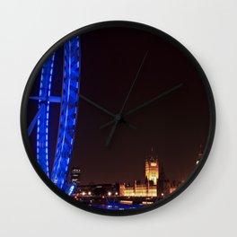 London eye and Big Ben at night Wall Clock