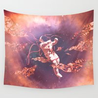 astronaut Wall Tapestries featuring Astronaut by Marianne Bousquet