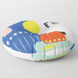 Fika Collage Floor Pillow