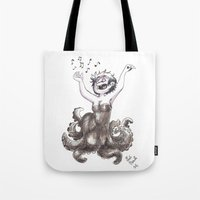 ursula Tote Bags featuring Ursula by Laeti Vanille