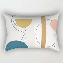 Free Abstract Shapes II Rectangular Pillow