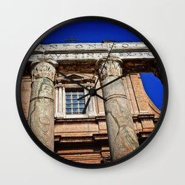 The Temple of Antonius & Faustina Wall Clock
