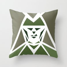 Five Triangle Faces - The Hunter Throw Pillow