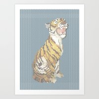 grumpy Art Prints featuring Grumpy by Mr. Morris can Meow!