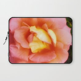 Light Orange and Pink Rose Laptop Sleeve