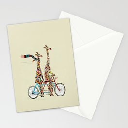 giraffe days lets tandem Stationery Cards