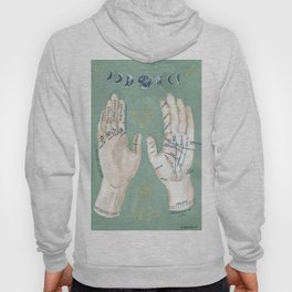 Palmistry Hand Illustration Hoody