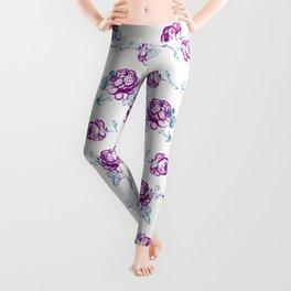 Rose Pattern #2 #floral #drawing #decor #art #society6 Leggings