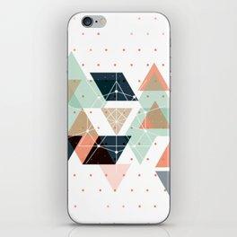 Midcentury geometric abstract nr 011 iPhone Skin