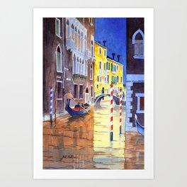 Reflections Of Venice Italy Art Print