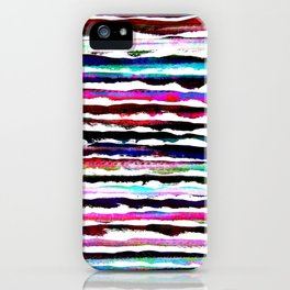 colorful brush strokes design iPhone Case