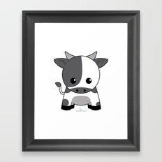 Kawaii Zodiac Cow Framed Art Print