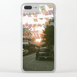 SAYING GOODNIGHT Clear iPhone Case