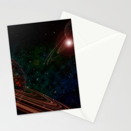 Space Scene Three Stationery Cards