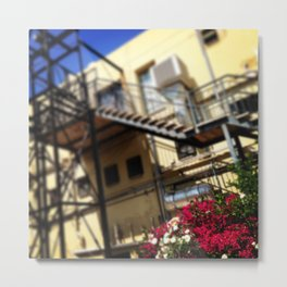 #152Photo #166 A #Backyard with #Bougainvillea and #Roses Metal Print