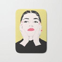 Pop Maria Callas - Yellow Bath Mat