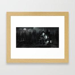 Haunted. Framed Art Print