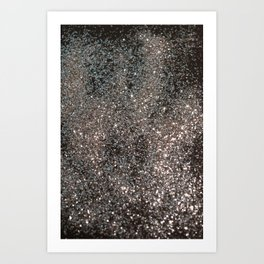 Silver Glitter #1 #decor #art #society6 Art Print