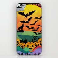 halloween iPhone & iPod Skins featuring Halloween by mark ashkenazi