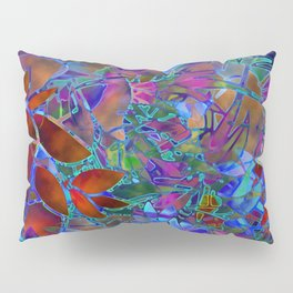 Floral Abstract Stained Glass G174 Pillow Sham