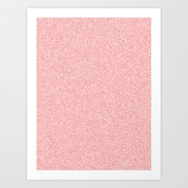 Melange - White and Coral Pink Art Print