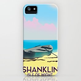 Shanklin, Isle of Wight travel poster. iPhone Case