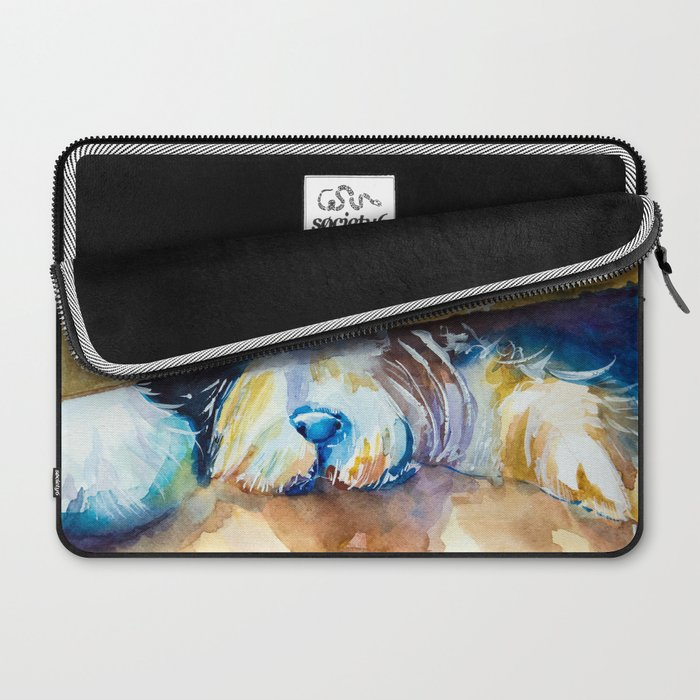 who is there? Laptop Sleeve