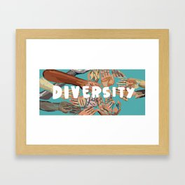7 Banned Words: Diversity Framed Art Print