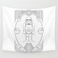 stormtrooper Wall Tapestries featuring Stormtrooper Jam by Josh Ln