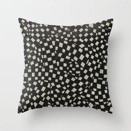 Emo Checkerboard Pattern (WHITE) Throw Pillow