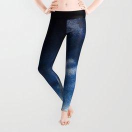 Watercolor Blue Leggings