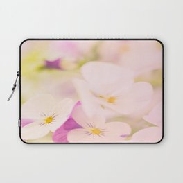 Something delicious and soft - violets in pastel colors - #Society6 #buyart Laptop Sleeve