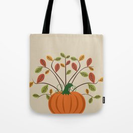 Fall Pumpkin Tote Bag