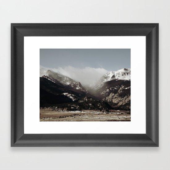Snow Clouds Framed Art Print