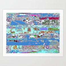 Interferences Art Print