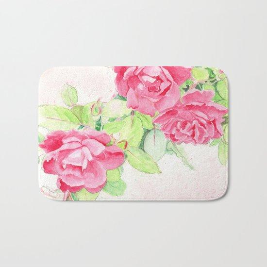 Cafe Roses Bath Mat